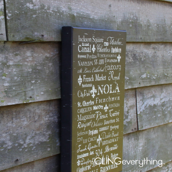 NOLA New Orleans Subway Canvas Street Neighborhood Decor Wall Art