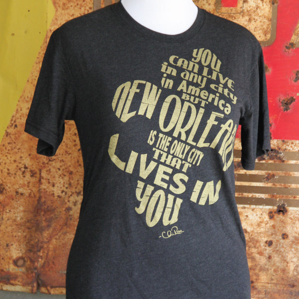 New Orleans Lives in You Crew Tee