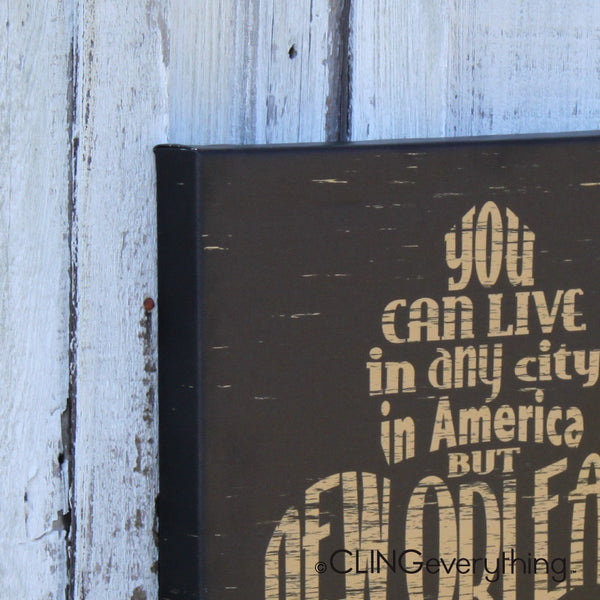 New Orleans Lives in You Canvas NOLA Wall Art