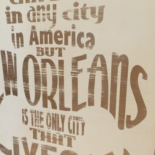 New Orleans Lives in You Wood Sign Wall Art Handmade