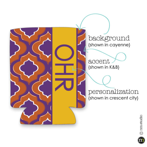 Ogee Koozie Personalized Monogram, Initial, Name Options