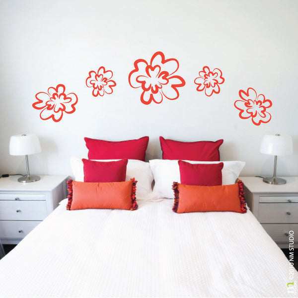 Peony Floral Flower Wall Decal