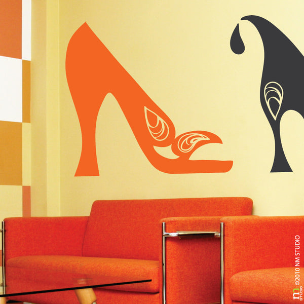 Sarah Highheel Fashion Shoe Wall Decal