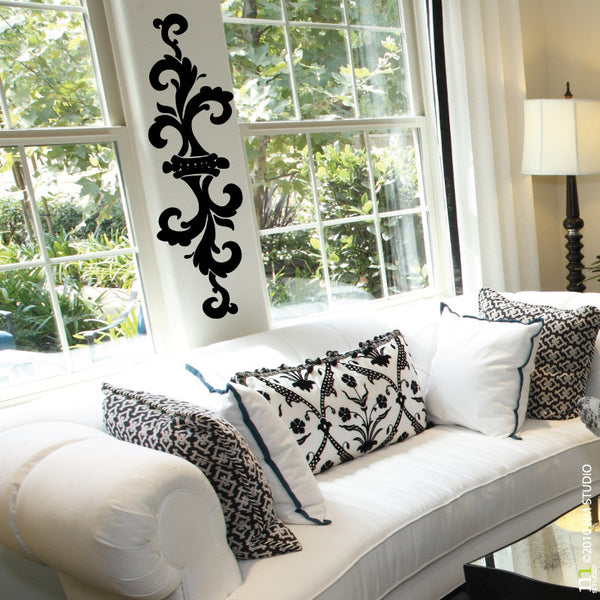 Sconce Decorative Ornamental Wall Decal Swirl Border