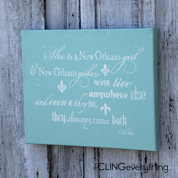 She is a New Orleans Girl Canvas Wall Art NOLA Chris Rose