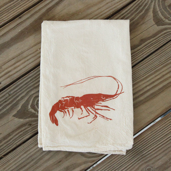 Shrimp Louisiana Seafood Kitchen Dish Towel Flour Sack Tea Towel