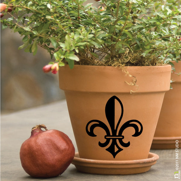 St. Peter Fleur de lis Decal Glassware Party Favor