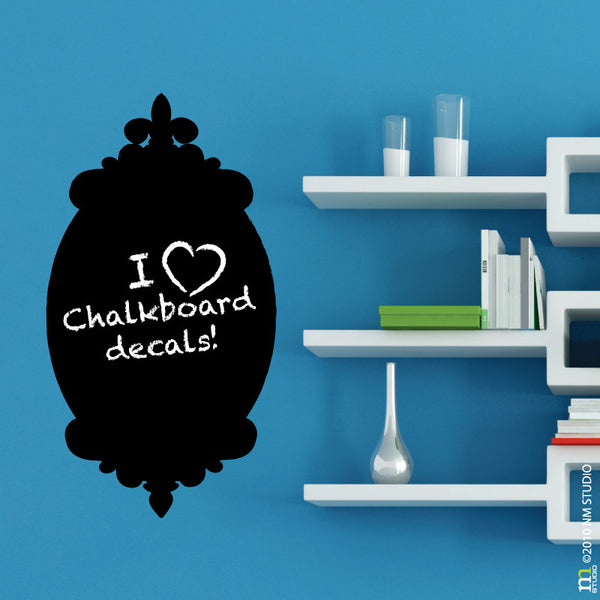 Tori Fleur de lis Decorative Chalkboard Decal