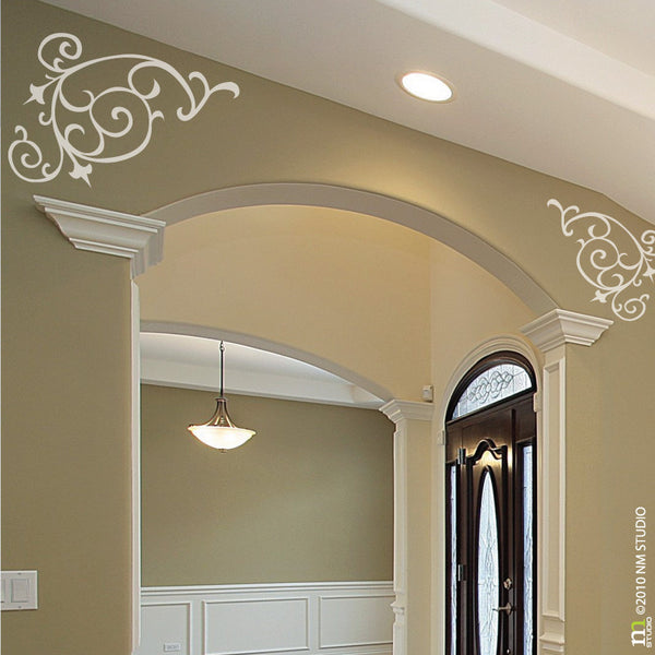 Tullier Corner Swirl Decorative Wall Decal