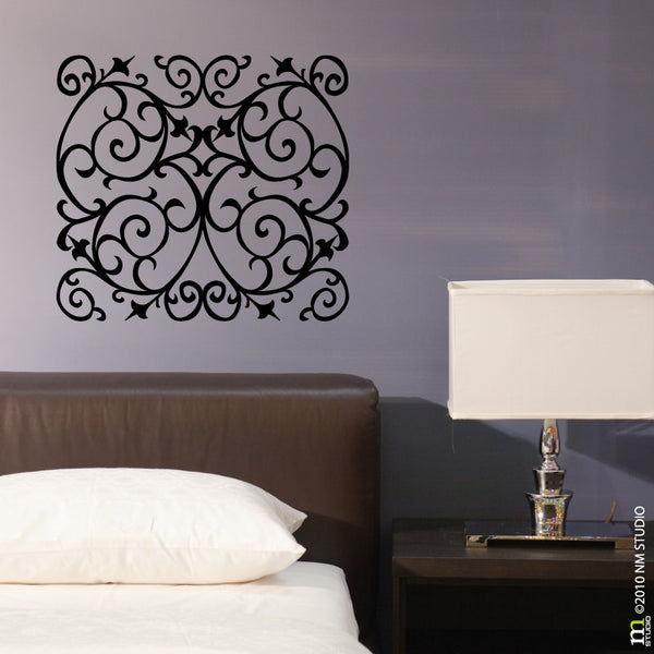 Tullier Scroll Ornamental Wall Decal