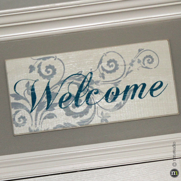 Welcome Custom Wood Sign Wall Art Handmade