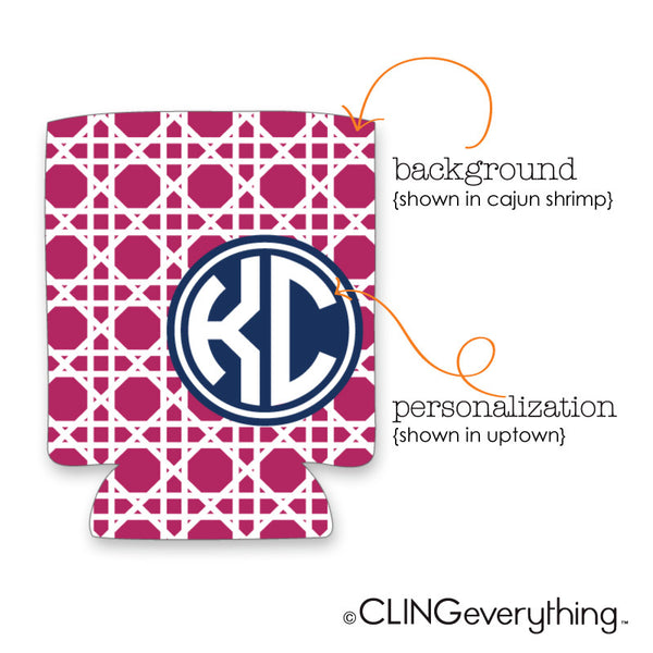 Woven Koozie Personalized Monogram, Initial, Name Options