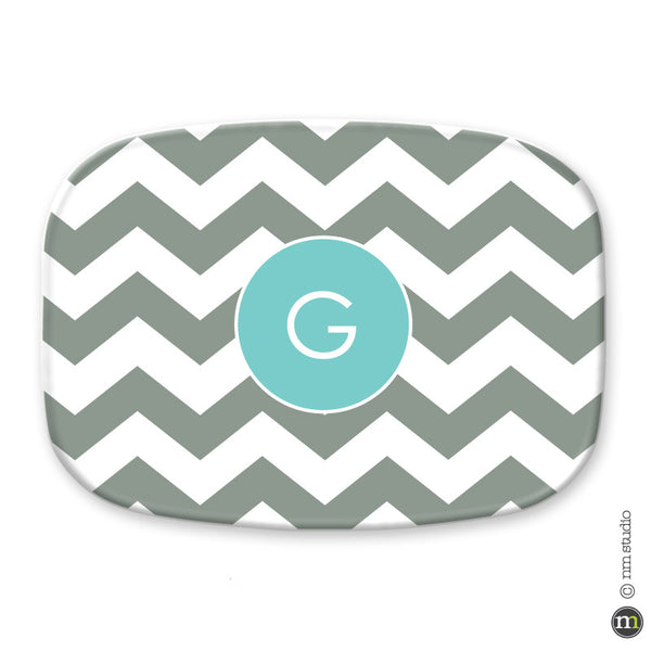 Chevron Platter Personalized Monogram, Initial, Name