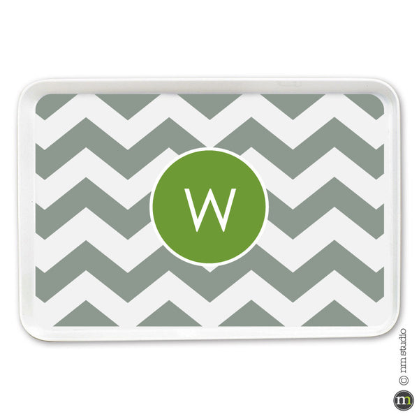 Personalized Chevron Tray Monogram, Initial, Name