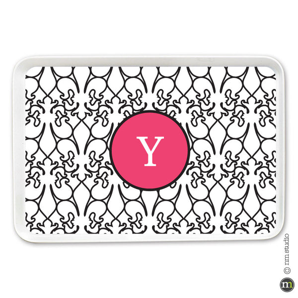 Fleur de lis Alley Way Tray Personalized Monogram, Initial, Name