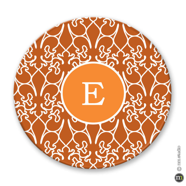 Personalized Fleur de lis Alley Way Plate Monogram