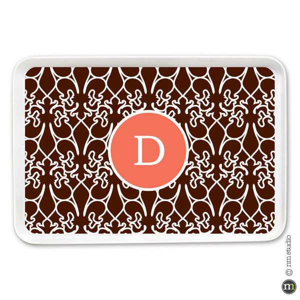 Fleur de lis Alley Way Tray Personalized