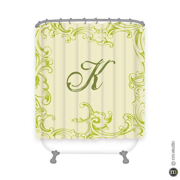 Krieger Shower Curtain Personalized Monogram, Initial, Name
