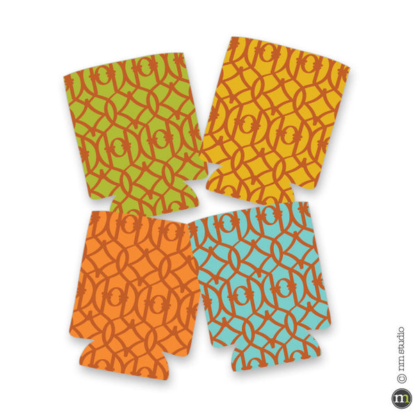 Lattice Blank Koozie - Pack of 4 - Choose your colors