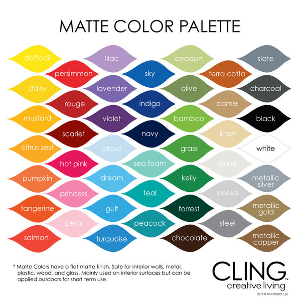 Cling Creative Living Matte Color Palette