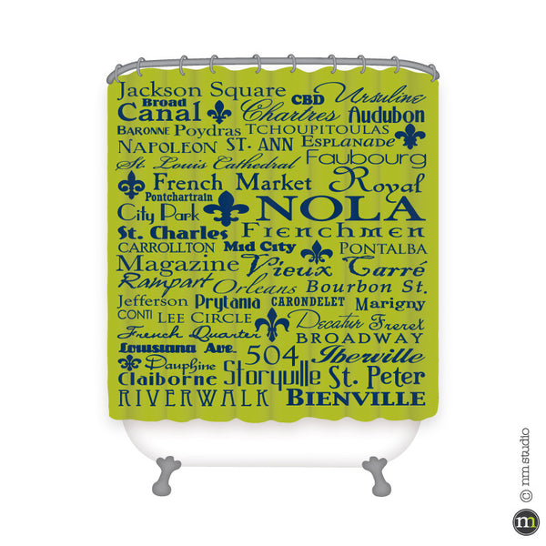 NOLA Subway Shower Curtain Personalized