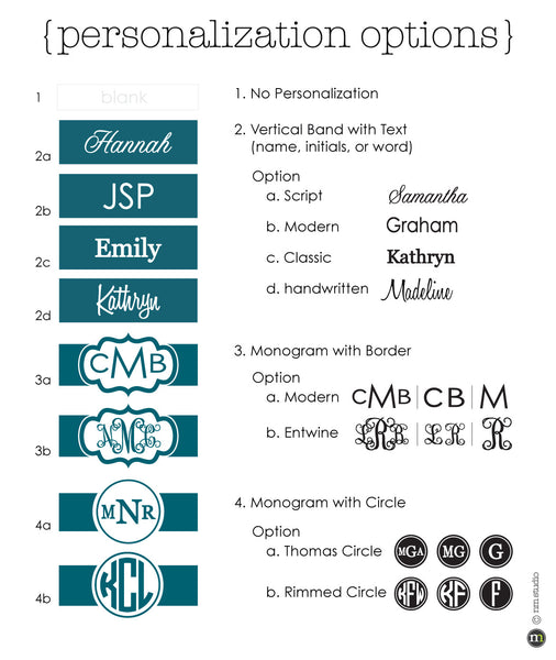 Cherry Bud Personalization Monogram, Initial, Name Options
