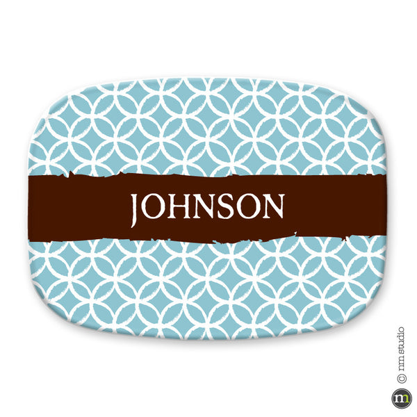 Watercolor Platter Personalized Monogram, Initial, Name