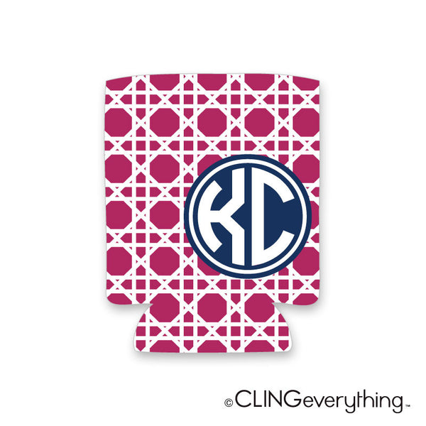 Woven Koozie Personalized Monogram, Initial, Name