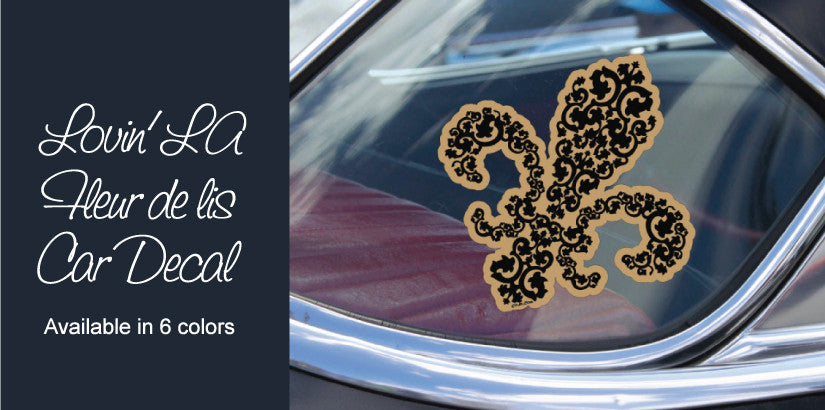 Black and gold Fleur de lis Car Decal
