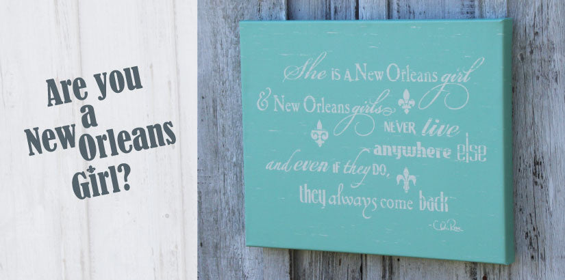 She is a New Orleans Girl Wrapped Canvas