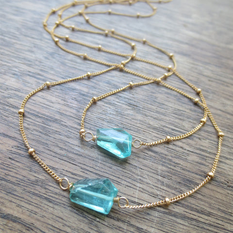 Chidori Necklace - Apatite