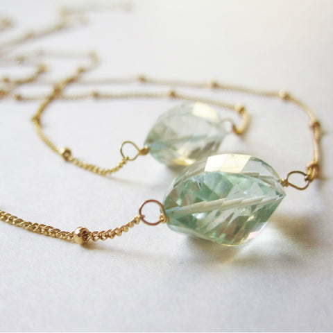 Chidori Necklace - Green Amethyst