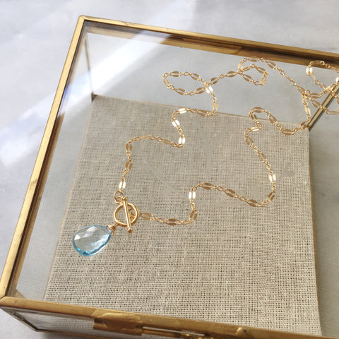 Kana Necklace - Aquamarine