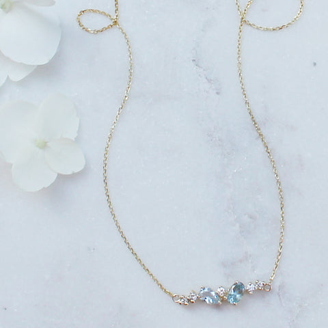 Hatsukoi Necklace - Aquamarine