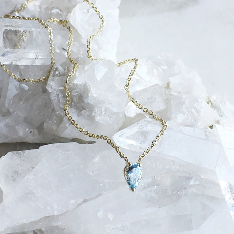 Jiai Necklace - Aquamarine
