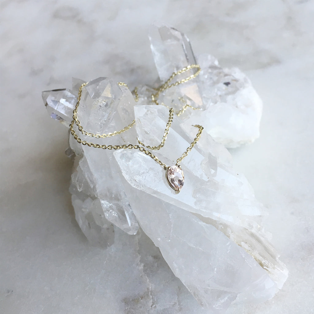 Jiai Necklace - Morganite