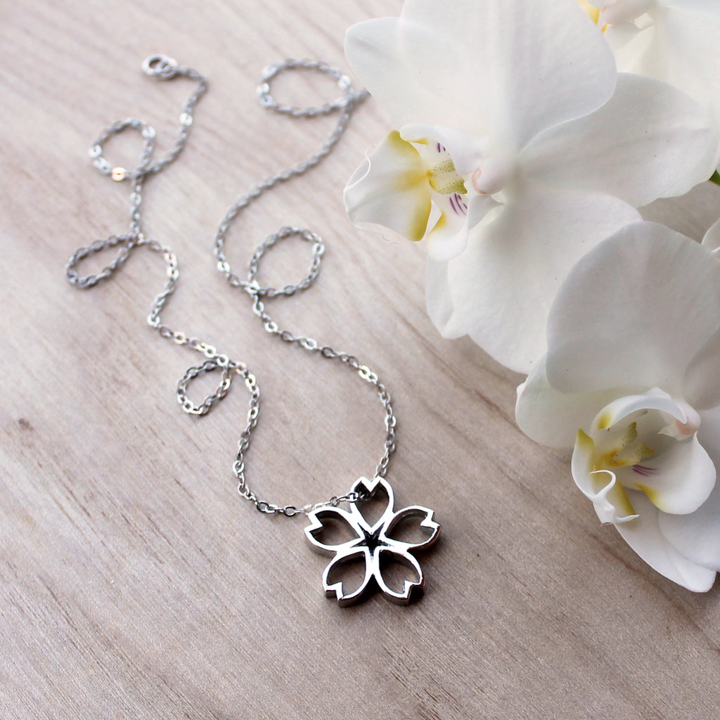 Sakura Necklace - Large, Sterling Silver