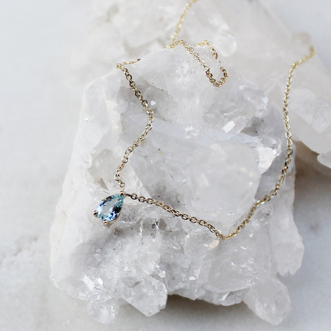Netsuai Necklace - Aquamarine