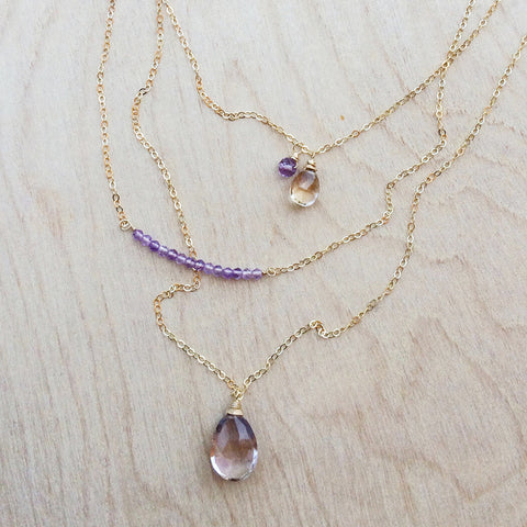 Oborozuki Necklace - Ametrine