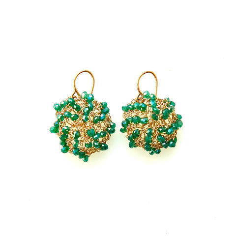 Green Mini Cosmos Earrings