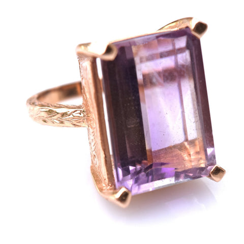 Rose Gold & Amethyst Ring