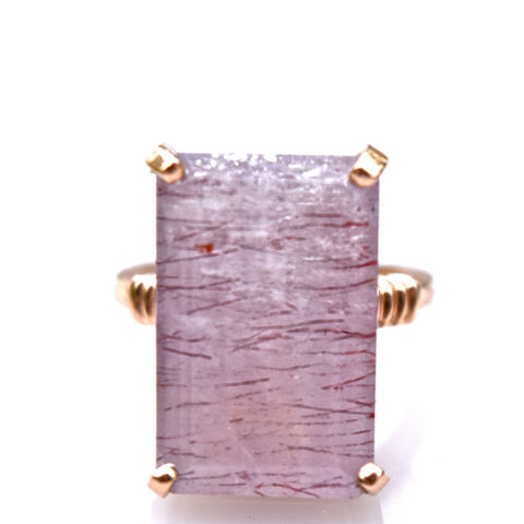 Rose Gold & Strawberry Quartz Ring