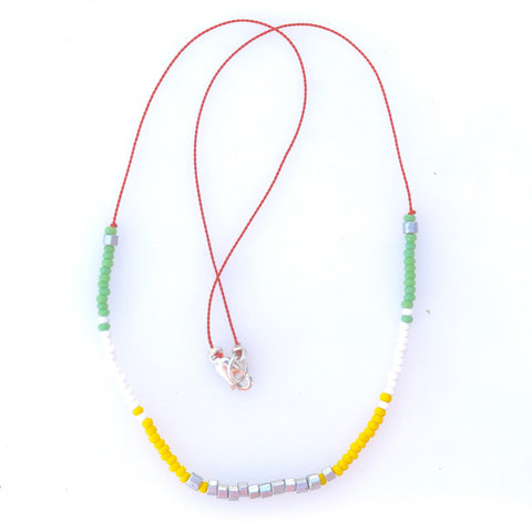 Citrus mix seed bead necklace