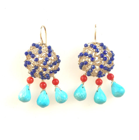 Lapis Fiesta Earrings