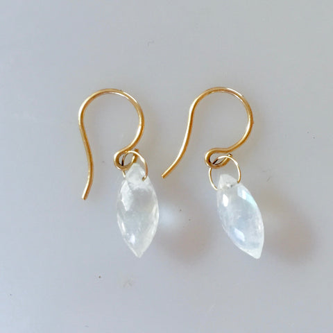 Moonstone Marquis Bead Earring