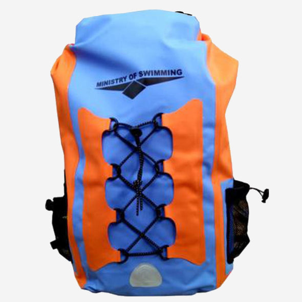 Waterproof Dry bag backpack (Orange Blue)