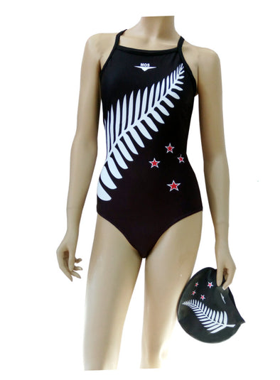NZ Fern Thin Strap Woman's Training - Ministry Of Swimming