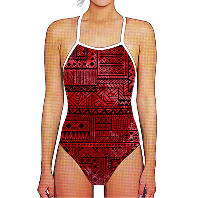 Red Aztec Thin Strap Woman's Training
