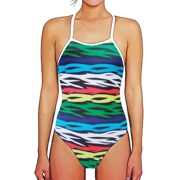 Bright Stripes Thin Strap Womans Training