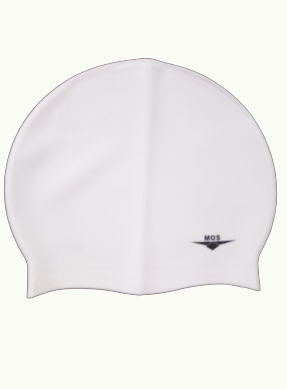 White Large Ocean Pool Cap - Ministry Of Swimming